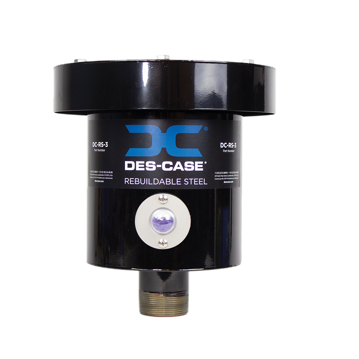 Des-Case Rebuildable Steel Series Breather1.1